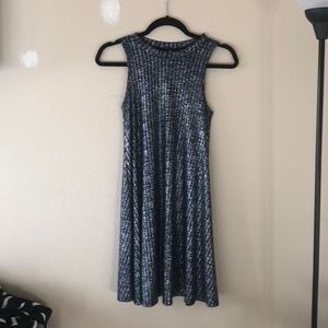 Blue and Silver A-line Dress